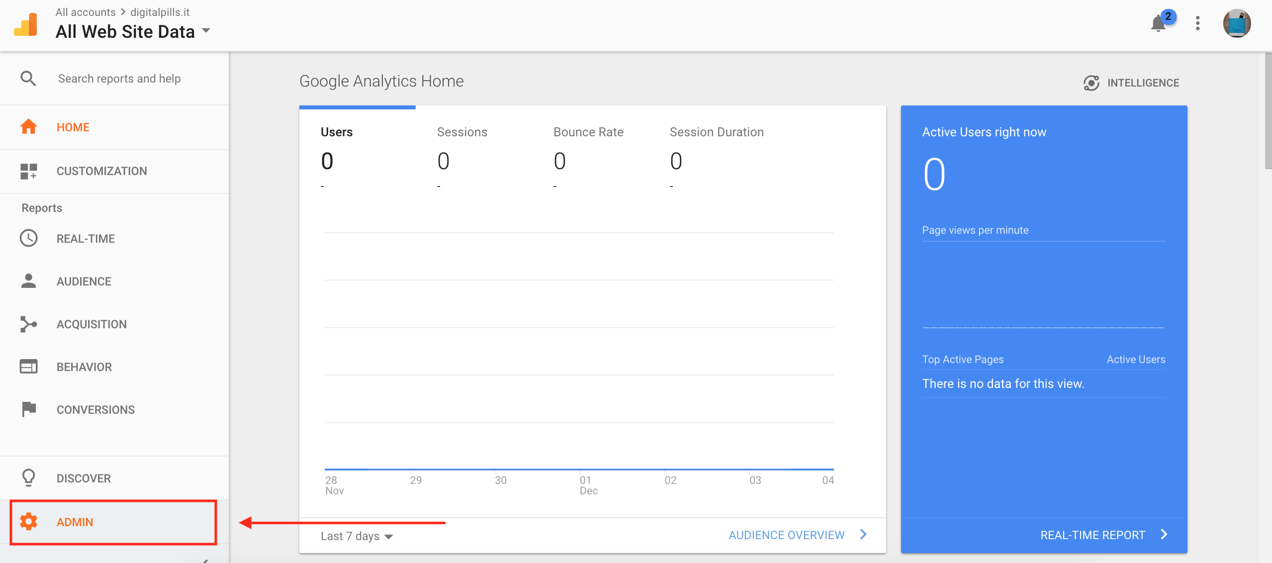 Installare Google Analytics